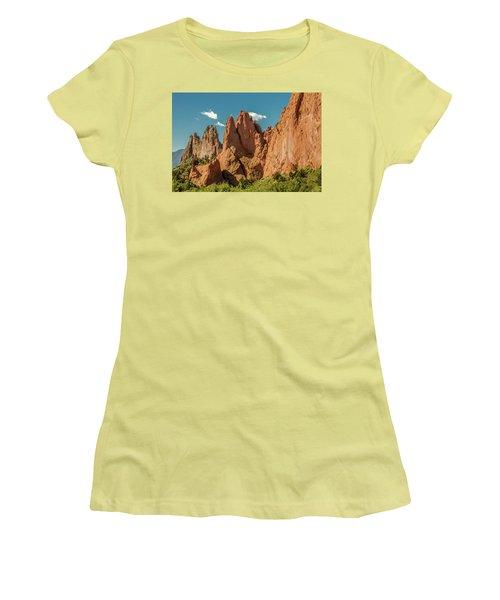 Women's T-Shirt (Junior Cut) featuring the photograph Garden Of The Gods by Bill Gallagher