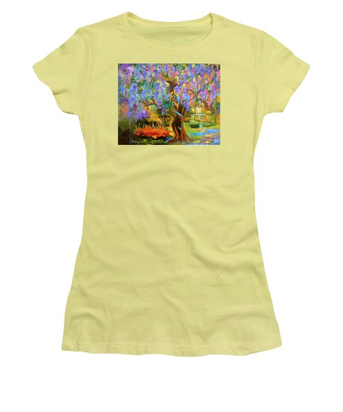 Garden Pathway Women's T-Shirt (Junior Cut) by Jenny Lee