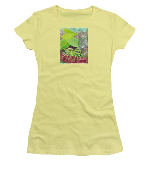 Garden Scene 9-21-10 Women's T-Shirt (Junior Cut) by Fred Jinkins