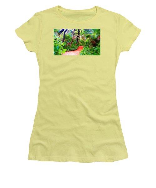Garden Walk Women's T-Shirt (Athletic Fit)