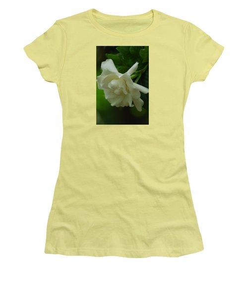Women's T-Shirt (Junior Cut) featuring the photograph Gardenia by Ramona Whiteaker