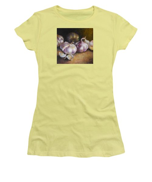 Garlic Painting Women's T-Shirt (Junior Cut) by Vali Irina Ciobanu