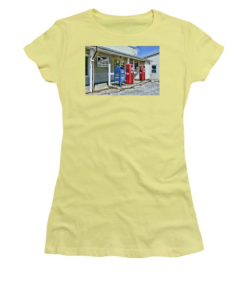 Women's T-Shirt (Junior Cut) featuring the photograph Gas And Mail by Paul Ward