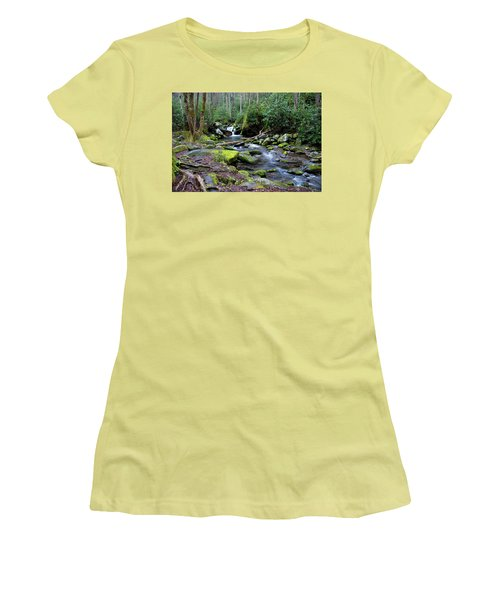 Gatlinburg Water Women's T-Shirt (Athletic Fit)