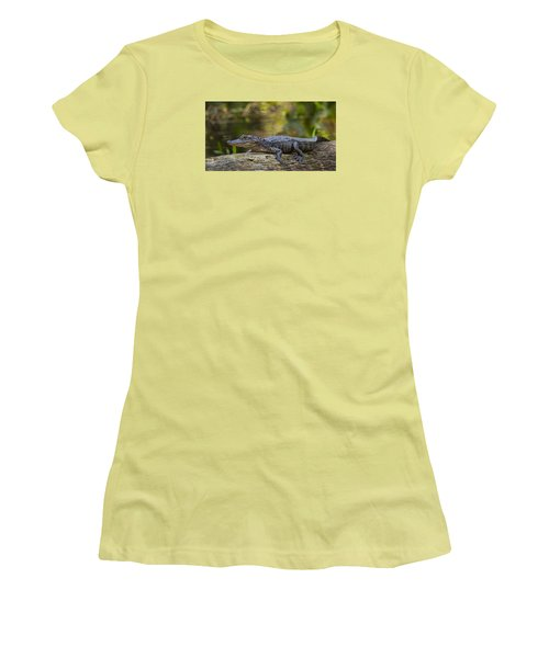 Gator Time Women's T-Shirt (Junior Cut) by Sean Allen