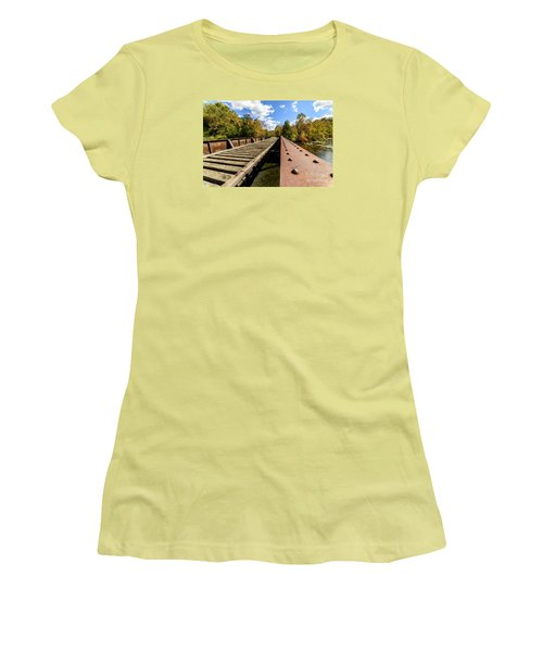 Gauley River Railroad Trestle Women's T-Shirt (Athletic Fit)