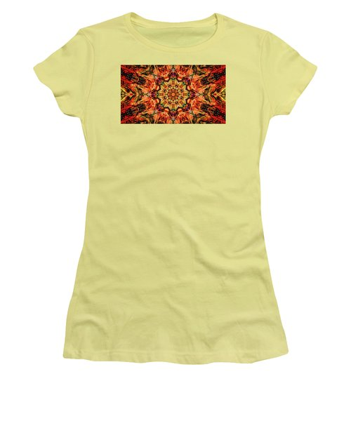 Gem Pattern Women's T-Shirt (Junior Cut) by Anton Kalinichev