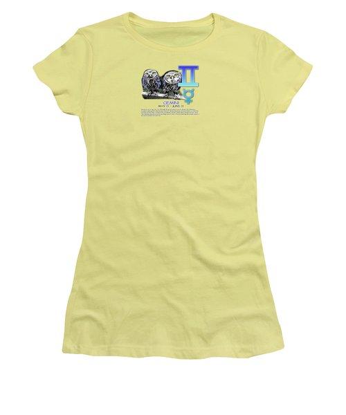 Gemini Sun Sign Women's T-Shirt (Athletic Fit)