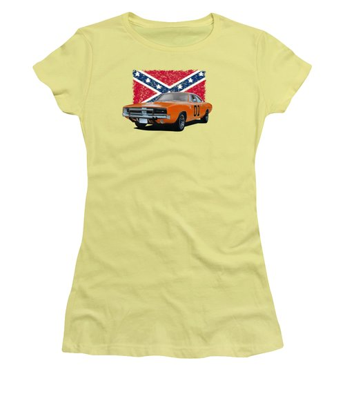 General Lee Rebel Women's T-Shirt (Junior Cut) by Paul Kuras