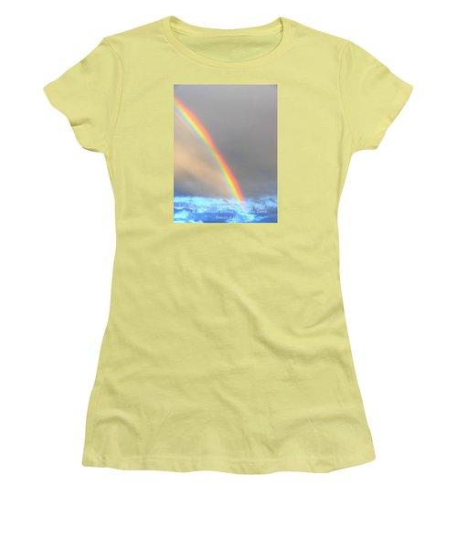 Women's T-Shirt (Junior Cut) featuring the photograph Genesis Rainbow by Lanita Williams