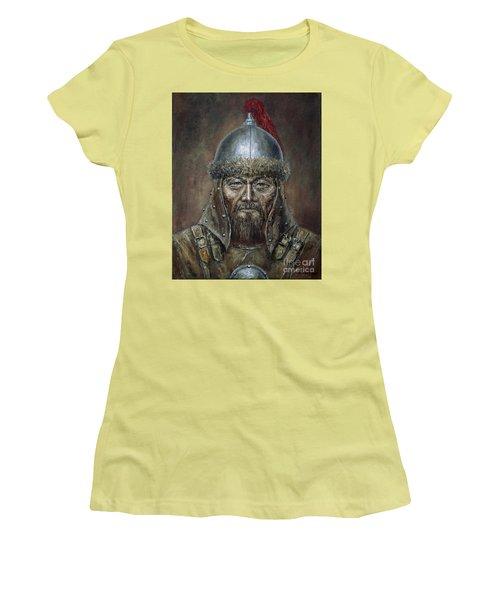 Genhis Khan Women's T-Shirt (Junior Cut) by Arturas Slapsys