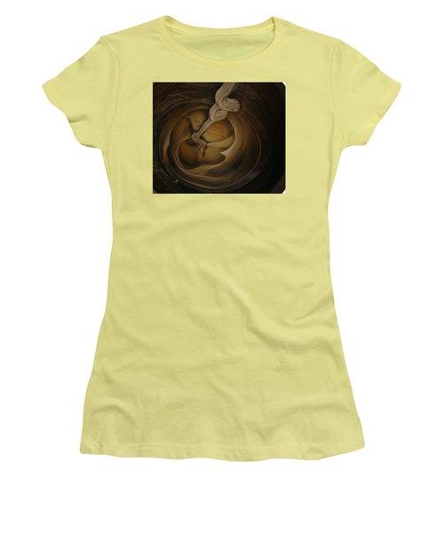 Genie In The Toilet Women's T-Shirt (Junior Cut) by Gyula Julian Lovas