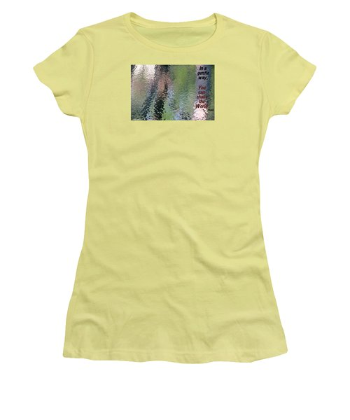 Women's T-Shirt (Junior Cut) featuring the photograph Gentleness Is Victory by David Norman