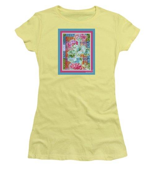 Geranium Quilt Women's T-Shirt (Athletic Fit)