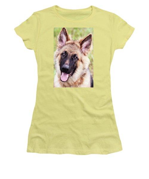 German Shepherd Dog Women's T-Shirt (Junior Cut) by Stephanie Frey