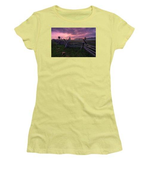 Gettysburg Mornings... Women's T-Shirt (Junior Cut) by Craig Szymanski