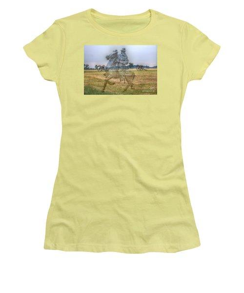 Ghost Of Gettysburg Women's T-Shirt (Junior Cut) by Randy Steele