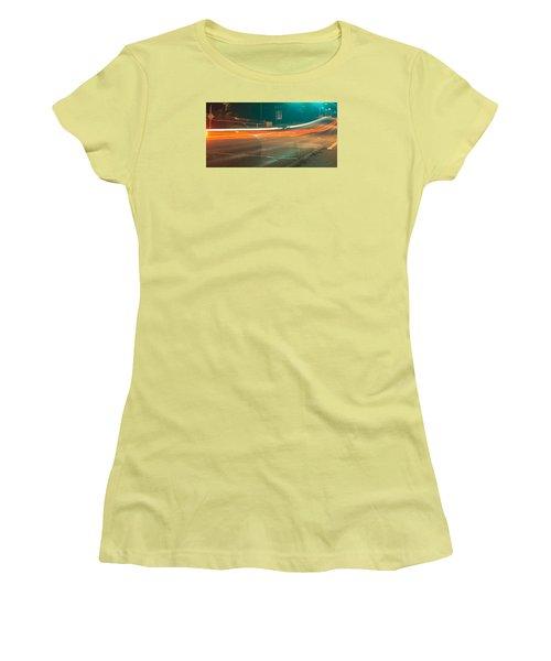 Ghostly Cars Women's T-Shirt (Junior Cut) by John Rossman
