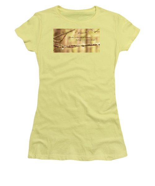 Gift Of Art Women's T-Shirt (Athletic Fit)