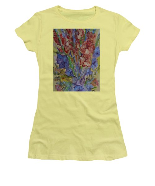 Gilded Flowers Women's T-Shirt (Athletic Fit)