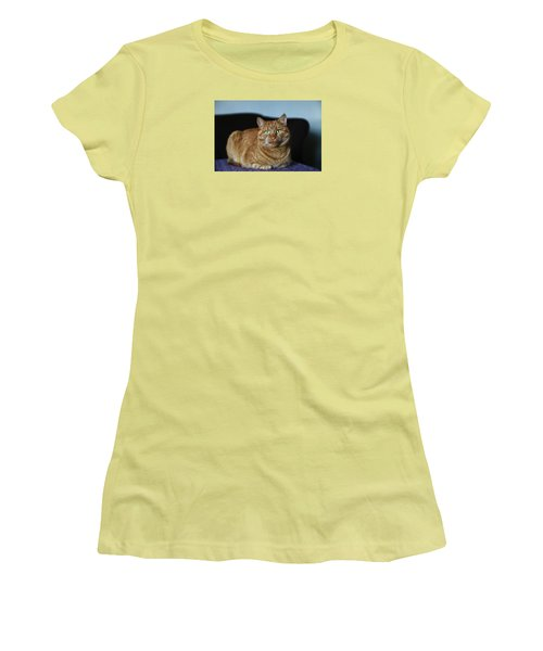 Women's T-Shirt (Athletic Fit) featuring the photograph Ginger Marmalade Cat by Nareeta Martin