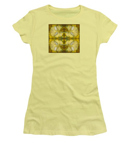 Women's T-Shirt (Athletic Fit) featuring the photograph Gingko Quad by Joye Ardyn Durham