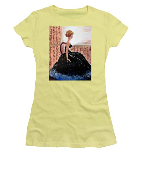 Girl In The Sequin Gown Women's T-Shirt (Junior Cut) by Gary Smith