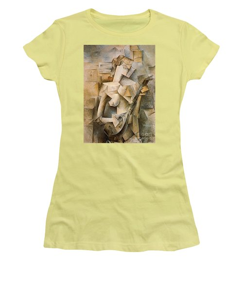 Girl With A Mandolin Women's T-Shirt (Junior Cut) by Picasso