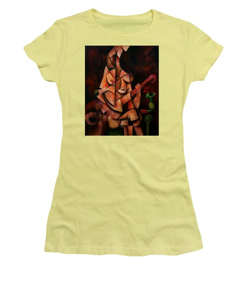 Girl With Guitar Women's T-Shirt (Junior Cut) by Kim Gauge