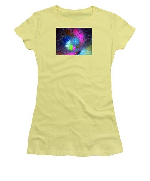 Women's T-Shirt (Junior Cut) featuring the digital art Girls Love Pink by Karin Kuhlmann