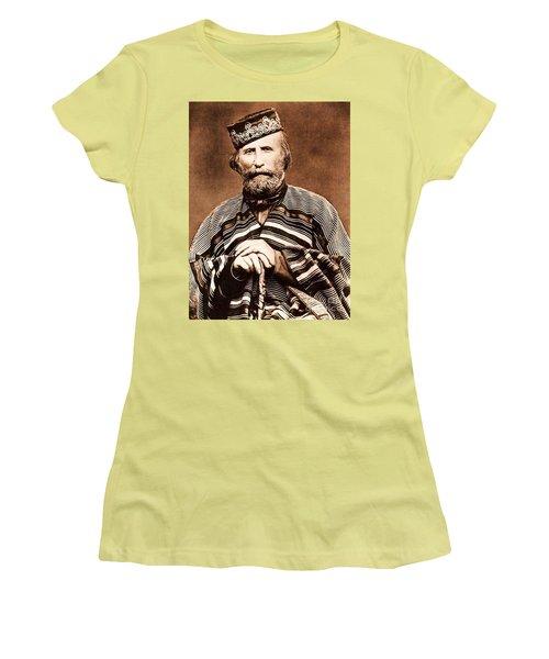 Women's T-Shirt (Junior Cut) featuring the photograph Giuseppe Garibaldi by Roberto Prusso