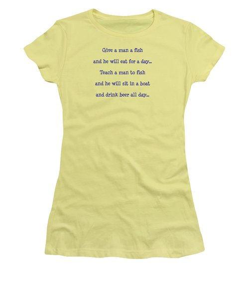 Give A Man A Fish Women's T-Shirt (Athletic Fit)