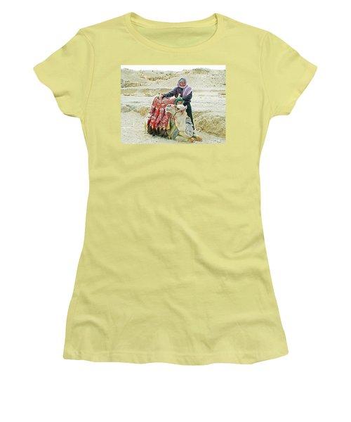 Giza Camel Taxi Women's T-Shirt (Junior Cut) by Joseph Hendrix