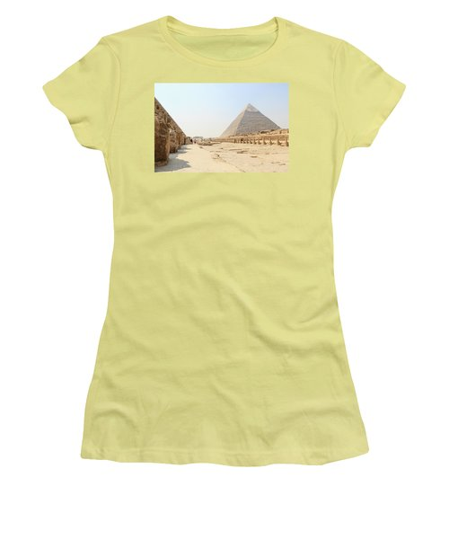 Women's T-Shirt (Athletic Fit) featuring the photograph Giza by Silvia Bruno