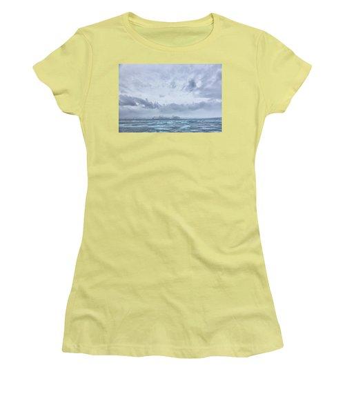 Glacial Lagoon Iceland Women's T-Shirt (Junior Cut) by Kathy Adams Clark