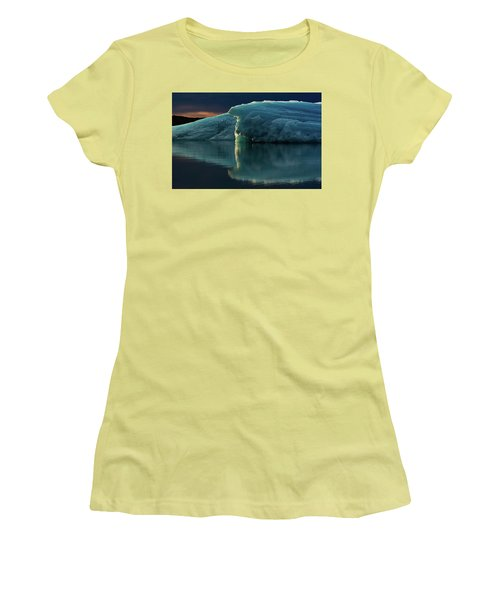 Glacial Lagoon Reflections Women's T-Shirt (Athletic Fit)