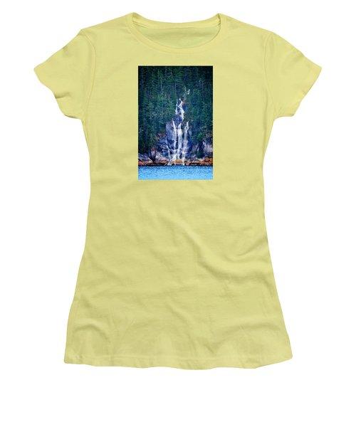 Glacier Falls 2 Women's T-Shirt (Junior Cut) by Brian Stevens