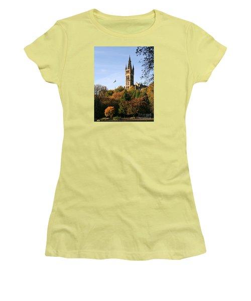 Glasgow University Women's T-Shirt (Junior Cut) by Liz Leyden