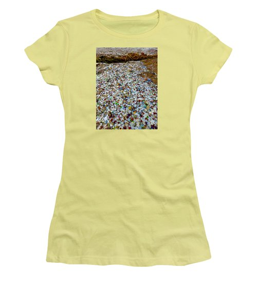 Glass Beach Women's T-Shirt (Athletic Fit)
