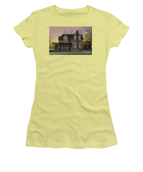 Glen Mill Train Station Women's T-Shirt (Athletic Fit)