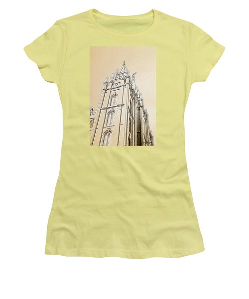 Women's T-Shirt (Junior Cut) featuring the drawing Glory And Majesty by Greg Collins