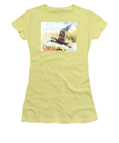 Glossy Ibis Women's T-Shirt (Athletic Fit)