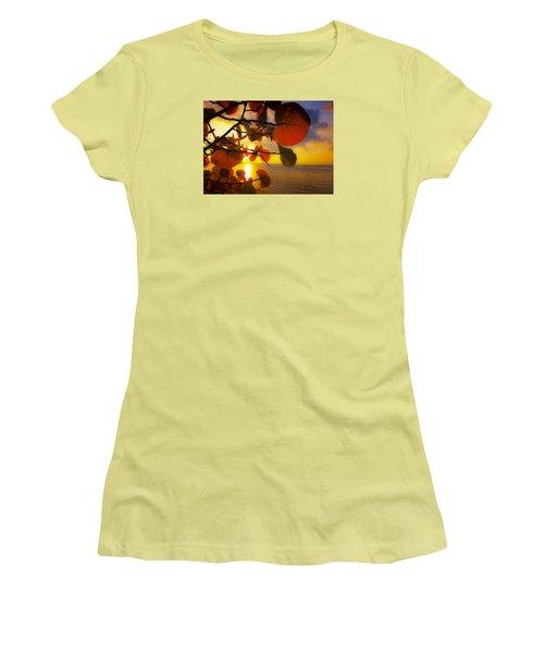 Glowing Red II Women's T-Shirt (Junior Cut) by Stephen Anderson