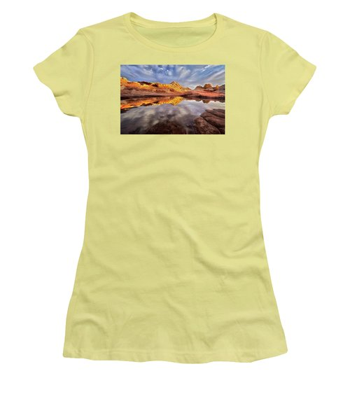 Glowing Rock Formations Women's T-Shirt (Junior Cut) by Nicki Frates