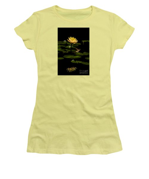 Women's T-Shirt (Junior Cut) featuring the photograph Glowing Waterlily by Barbara Bowen