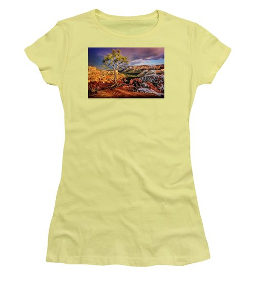 Gnarled Tree At Bryce Canyon Women's T-Shirt (Athletic Fit)