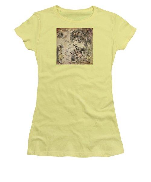 Go Ask Alice Women's T-Shirt (Junior Cut) by Diana Boyd