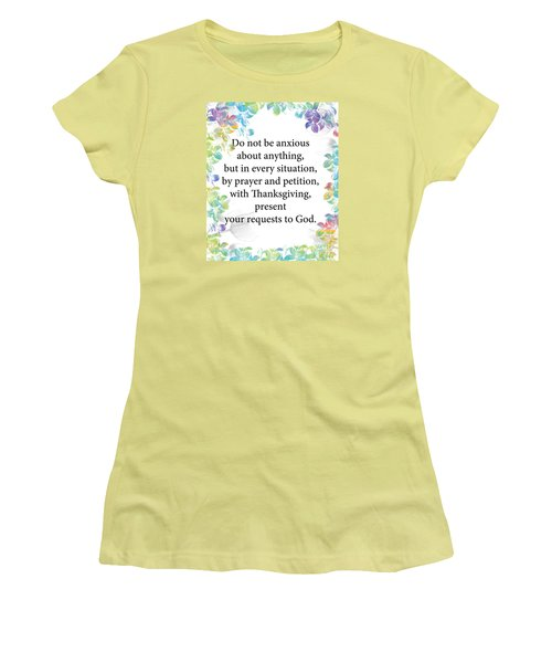Women's T-Shirt (Junior Cut) featuring the digital art God Is Over All by Trilby Cole