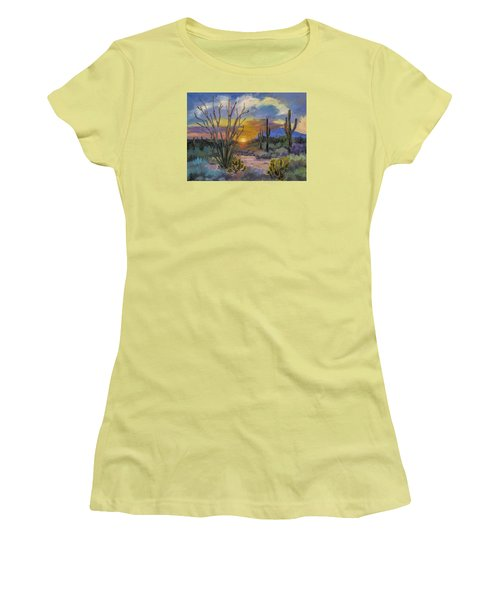 God's Day - Sonoran Desert Women's T-Shirt (Junior Cut) by Diane McClary