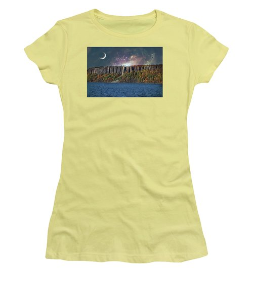God's Space Over Planet Earth Women's T-Shirt (Athletic Fit)